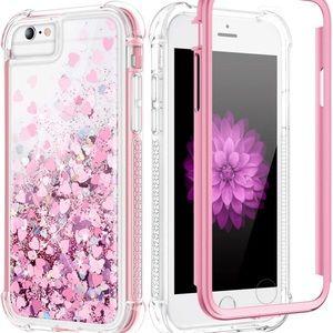 Caka Glitter Liquid Rose Gold iPhone 6, 7, 8 Case